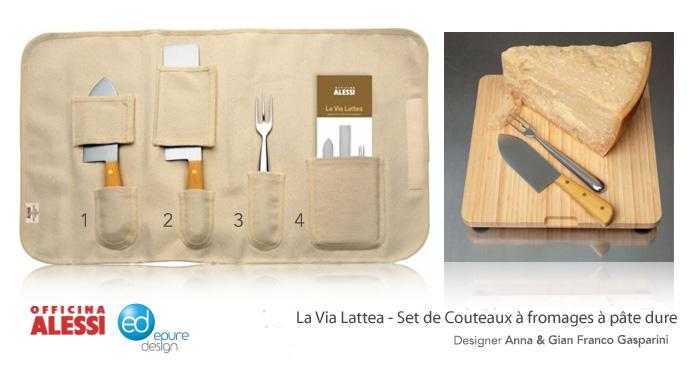la via lattea set de couteaux fromages officina alessi le blog epure design. Black Bedroom Furniture Sets. Home Design Ideas